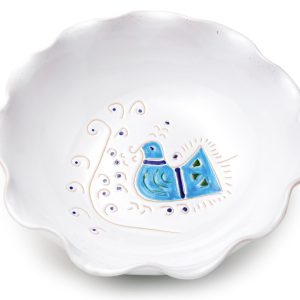 Linea Pavoncella Classica - Ciotola smerlata in ceramica