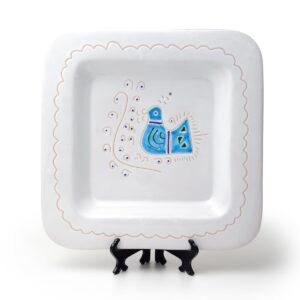 Linea Pavoncella Classica - Piatto quadrato in ceramica