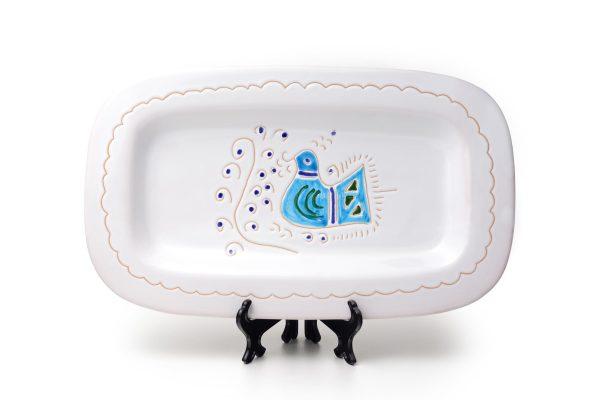 Linea Pavoncella Classica - Piatto rettangolare in ceramica