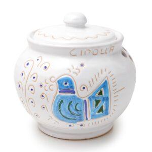 Porta cipolla in ceramica