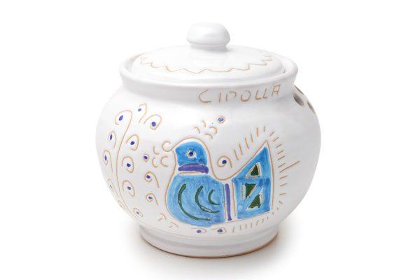 Portacipolla in ceramica Pavoncella Classica