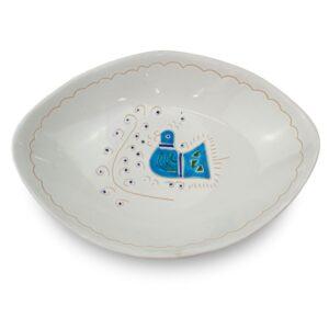 Piatto a Mandorla in ceramica